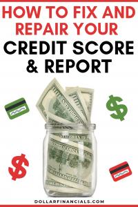 Fix and repair credit score and report
