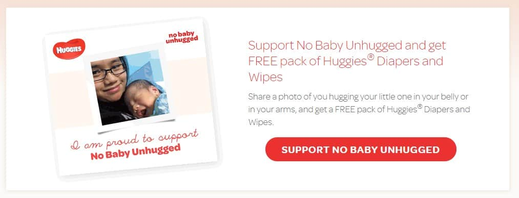 Huggies free diapers