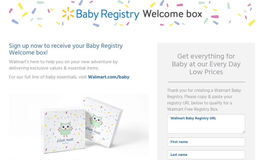 Walmart Baby Welcome Box