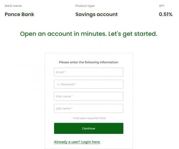 Ponce bank money market deposit account